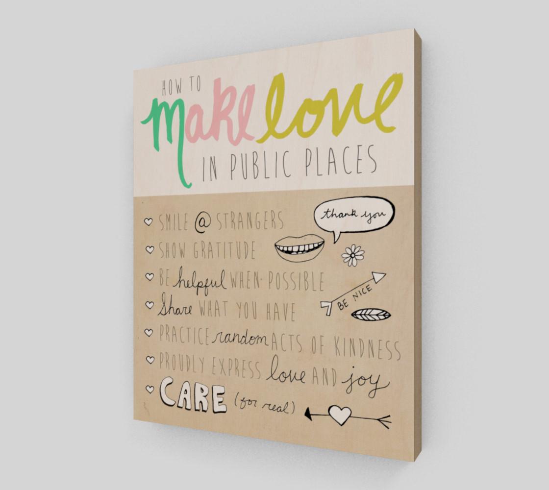 Aperçu de Make Love in Public 8x10 #2