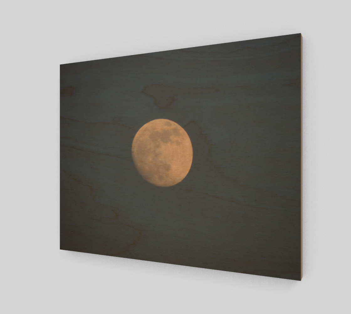 Moon and blue sky Art Print preview #1