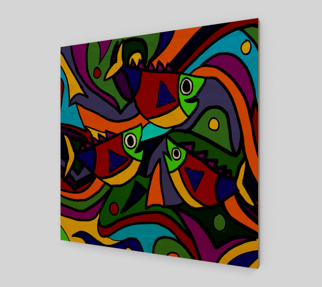 Funny Colorful Fish Abstract Art Miniature #2