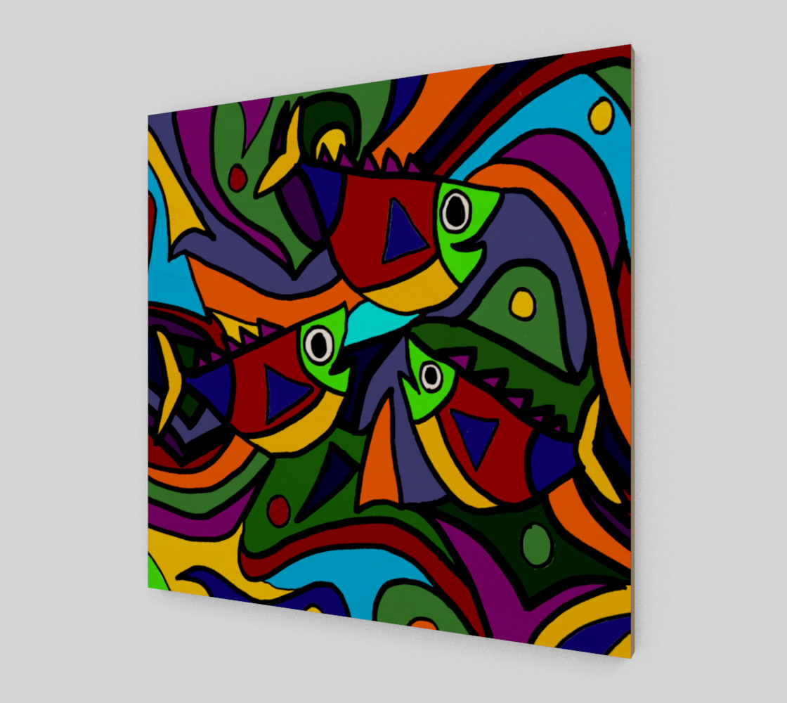 Funny Colorful Fish Abstract Art Miniature #3