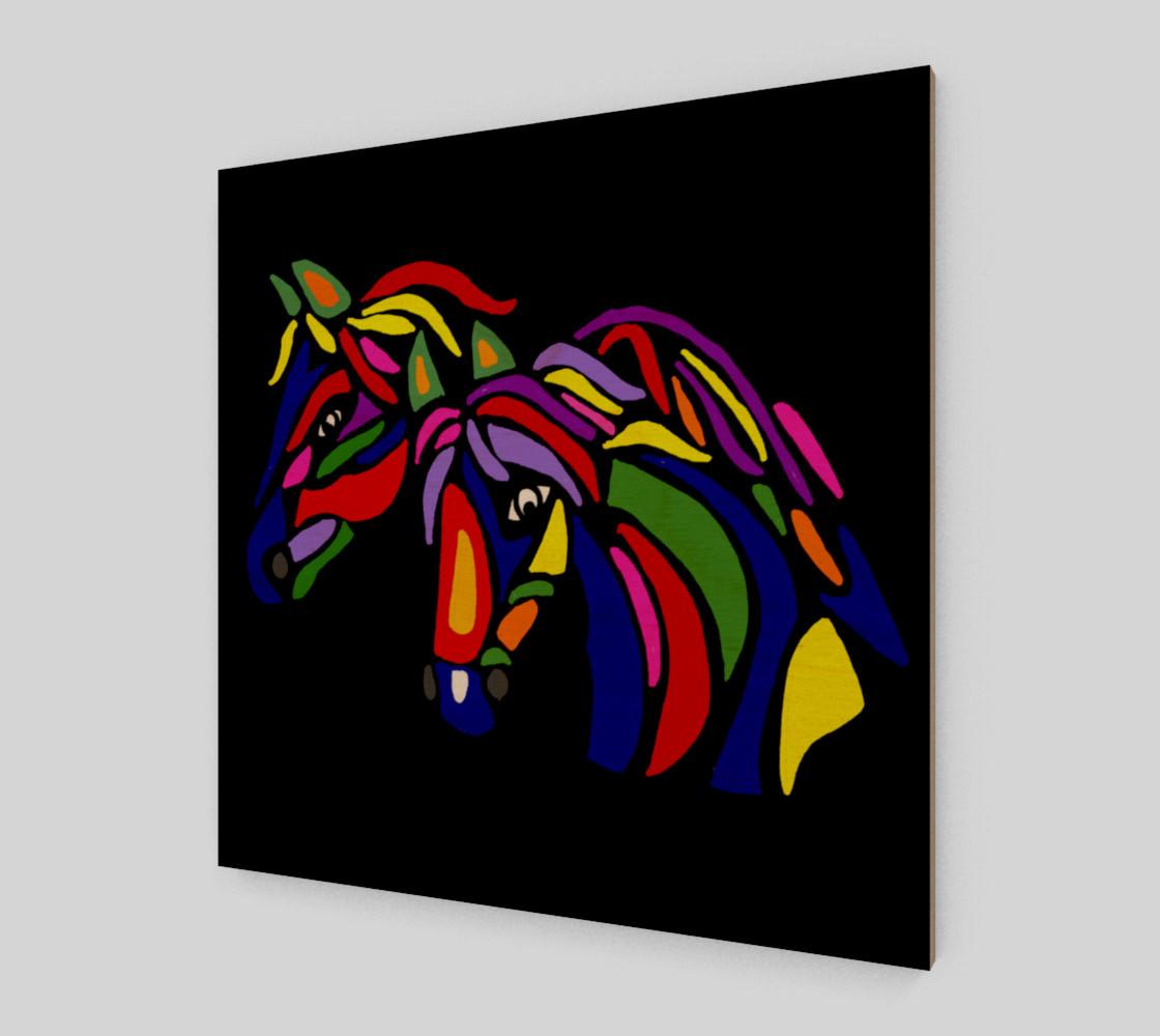 Aperçu de Colorful Horses Abstract Art #1