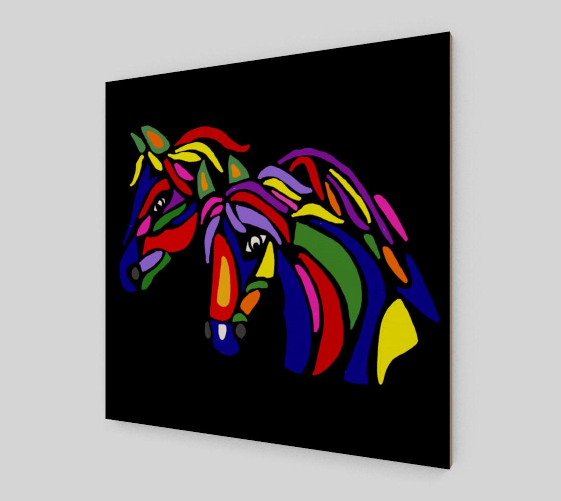 Aperçu de Colorful Horses Abstract Art #2