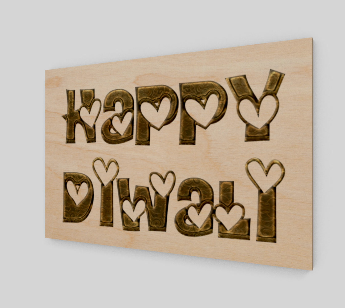 Festival of Lights Happy Diwali Greeting Typography Miniature #2