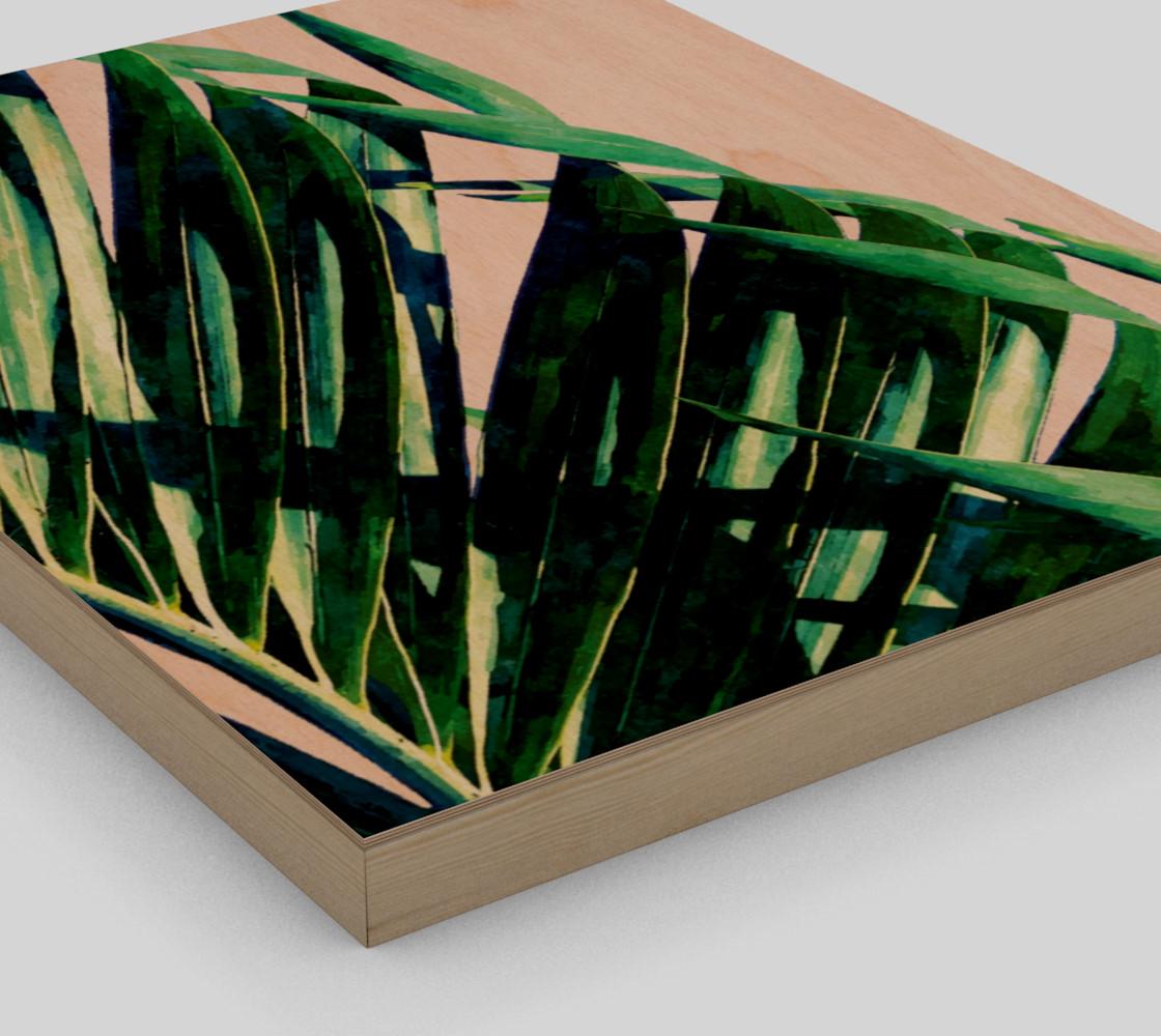 Palm V2 Wood Print 11x14 preview #3