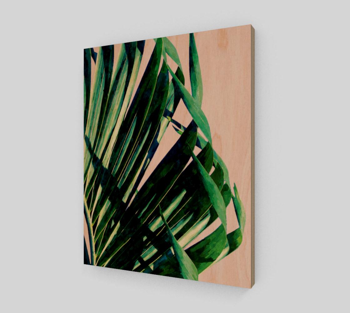 Palm V2 Wood Print 11x14 preview #1