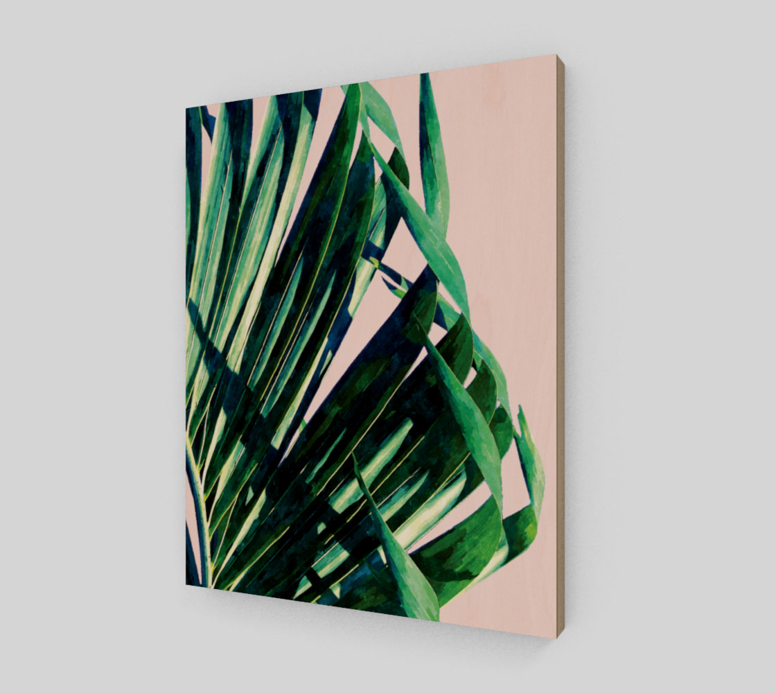 Palm V2 Wood Print 11x14 preview #2