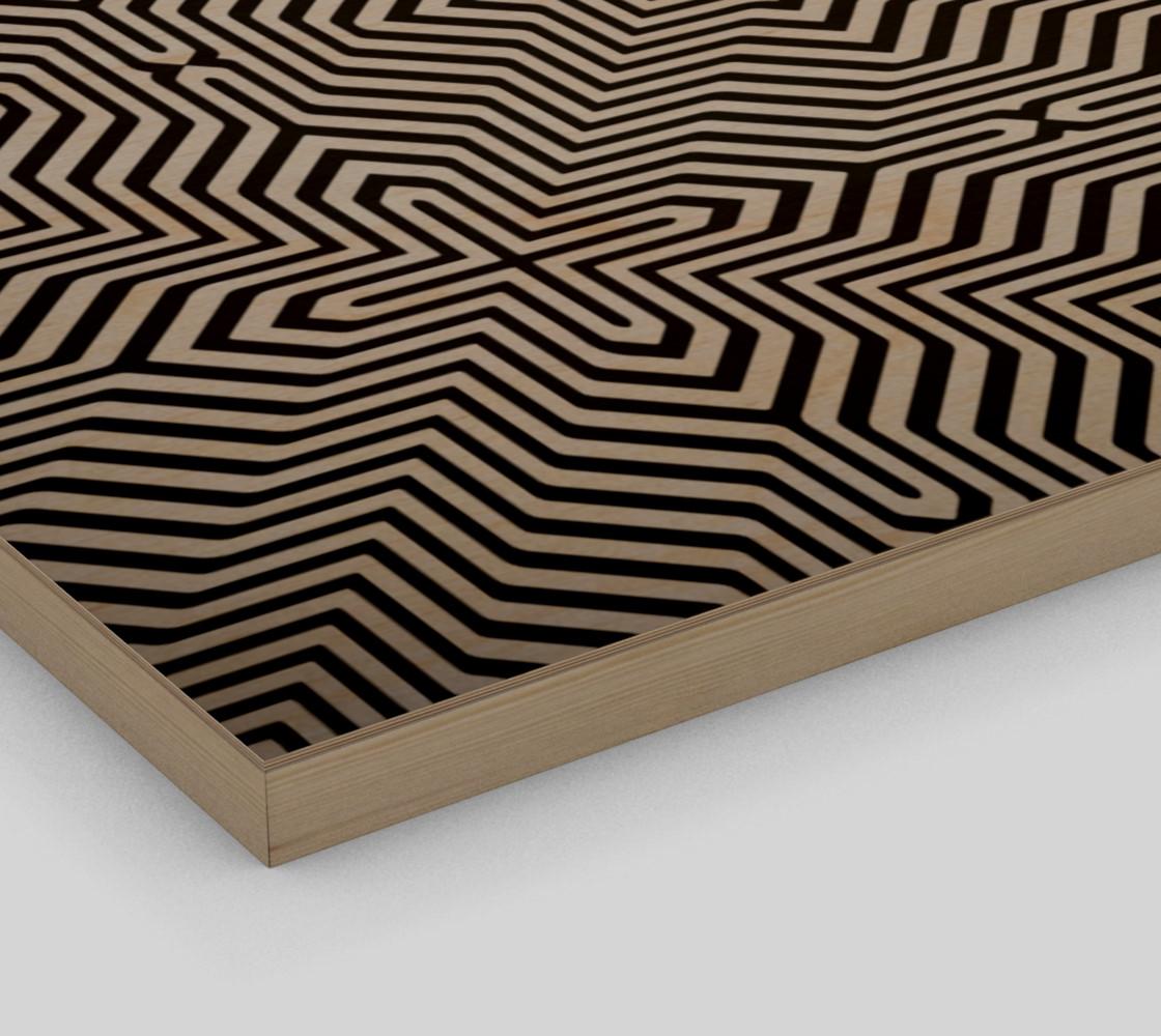 Aperçu de Minimal Geometrical Optical Illusion Style Pattern in Black & White  #3