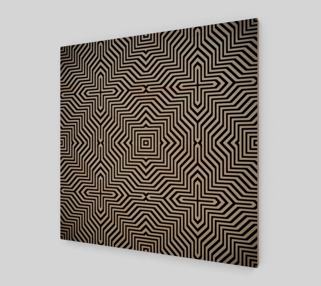 Aperçu de Minimal Geometrical Optical Illusion Style Pattern in Black & White  #1