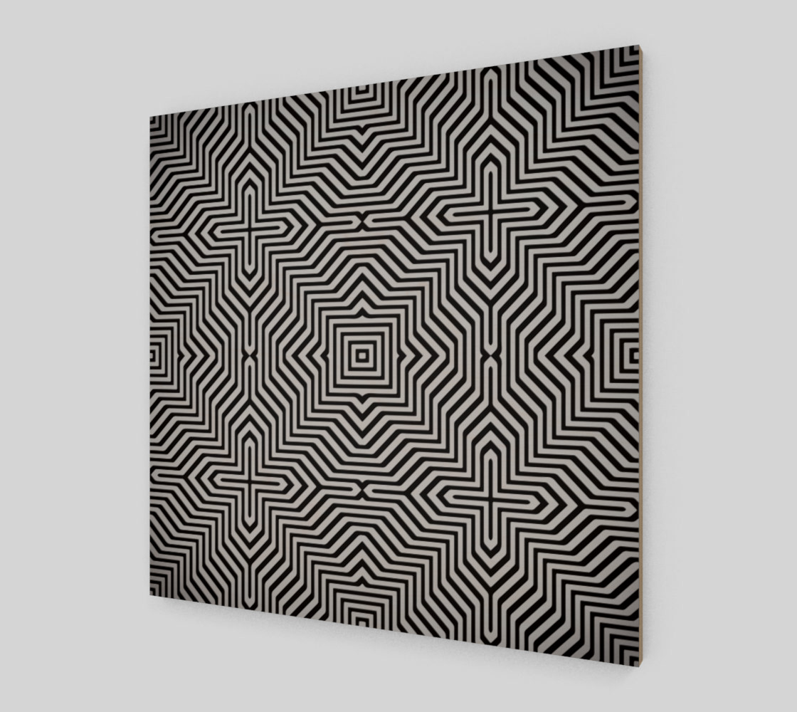 Minimal Geometrical Optical Illusion Style Pattern in Black & White  preview #2