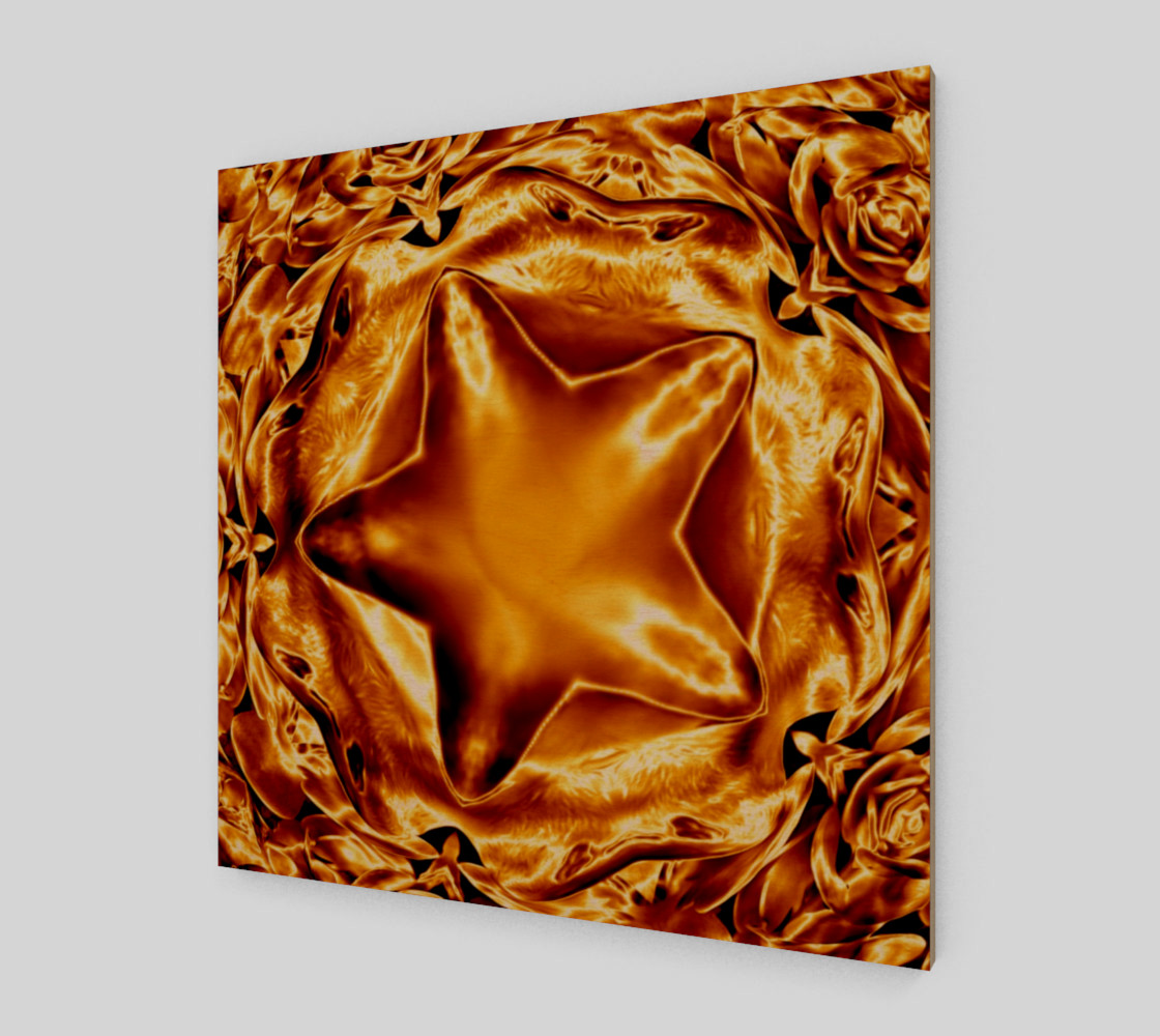 Elegant Shiny Copper Gold Star Wall Art preview #1