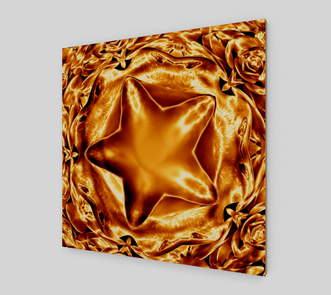 Elegant Shiny Copper Gold Star Wall Art preview #2