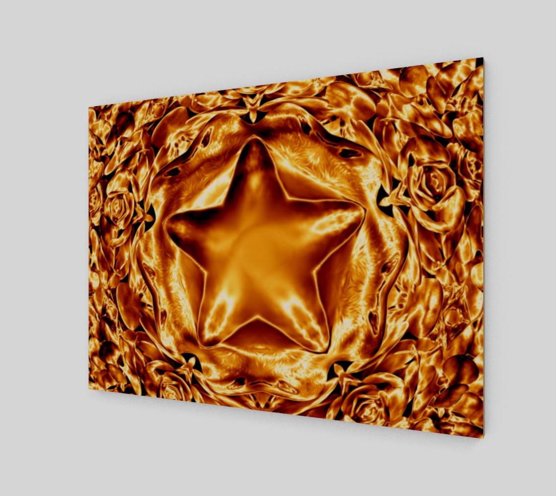 Elegant Shiny Copper Gold Star preview #2