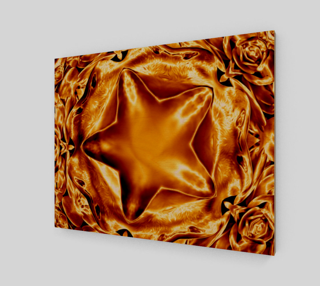 Elegant Shiny Copper Gold Star preview #1