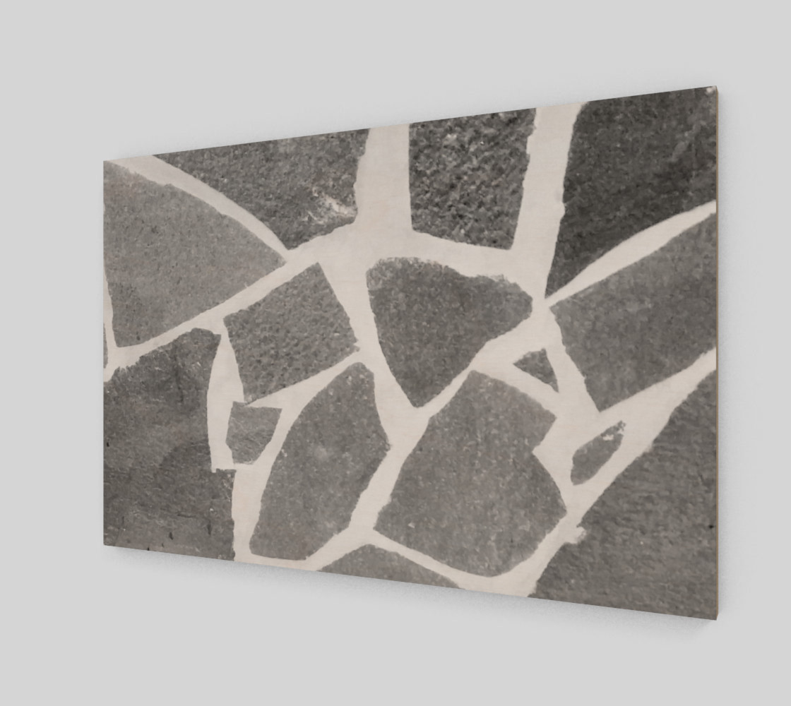 Gray White Stone Mosaic Pattern preview #2