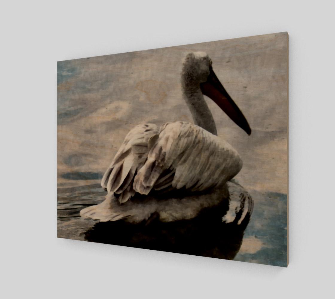 Lonley Pelican(20x16) preview #1