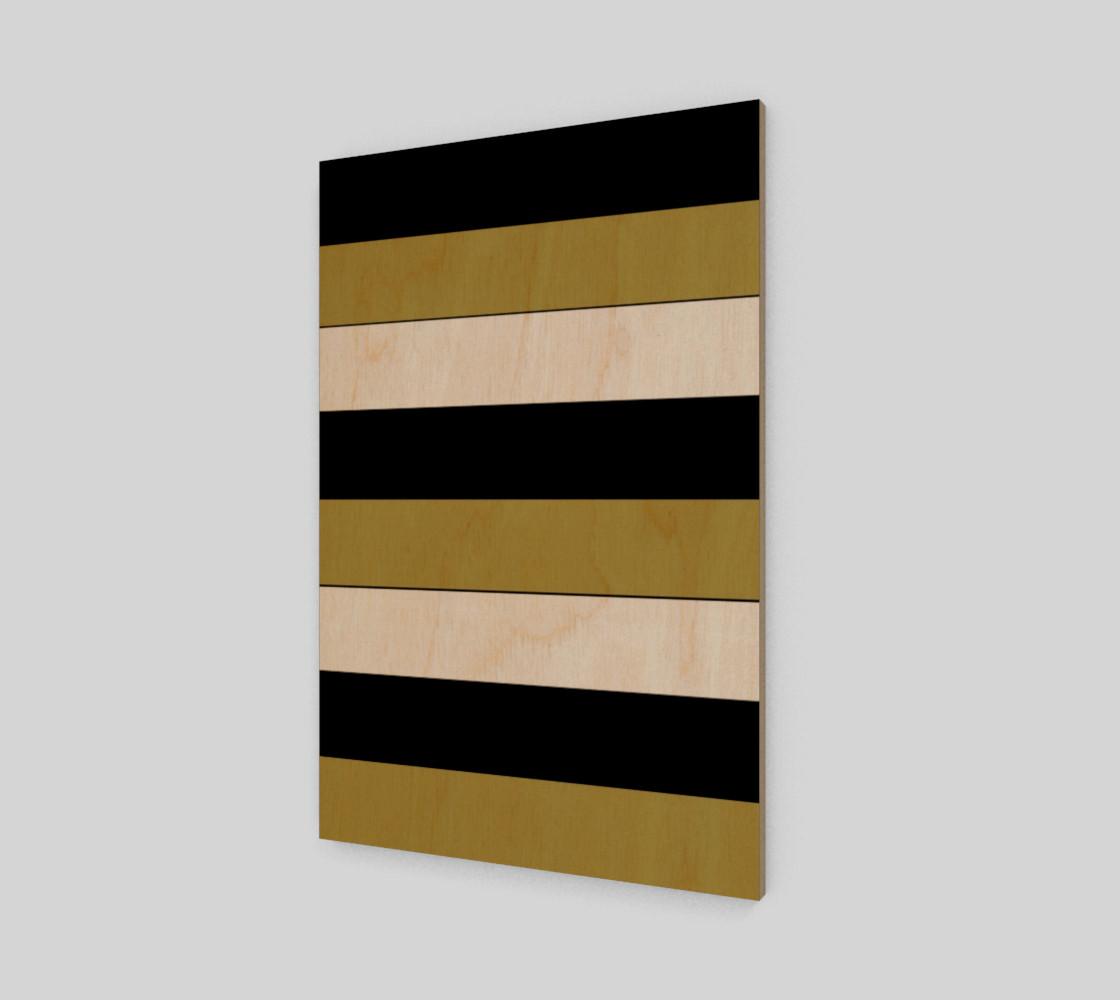 Elegant Black White Brown Gold Stripes Pattern preview #1