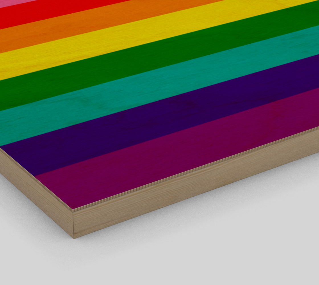 Rainbow Flag Original 8 Stripes Pattern LGBT Pride preview #3