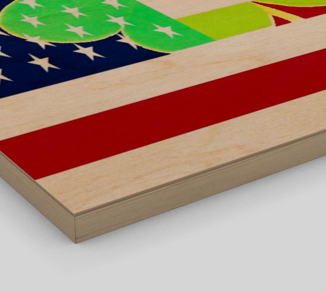 Aperçu de St. Patrick's Day Irish Shamrock Clover American Flag #3