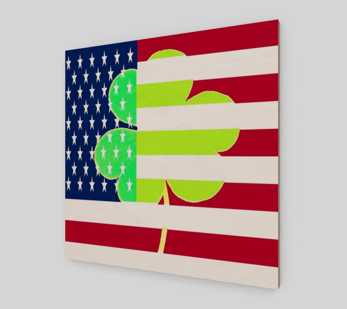 Aperçu de St. Patrick's Day Irish Shamrock Clover American Flag #2