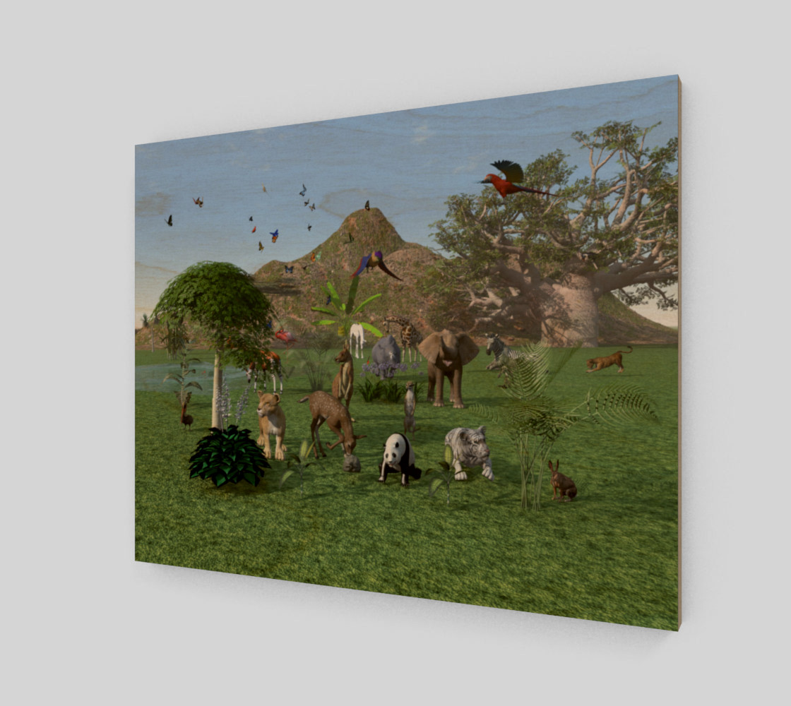 An exotic wild animal scene preview #1