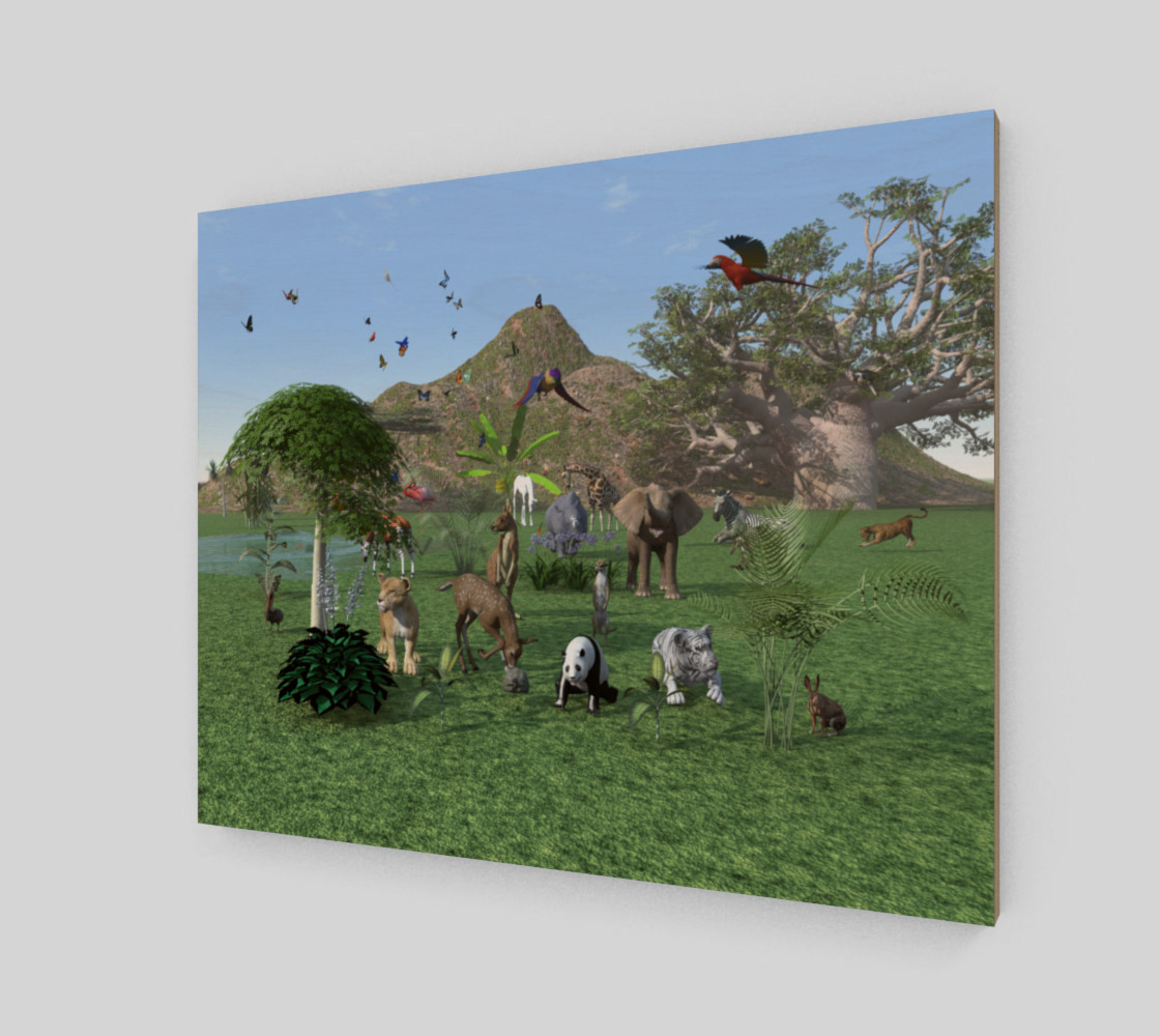 An exotic wild animal scene preview #2