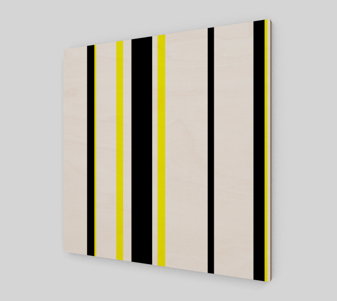 Black Yellow and White Stripes preview #2