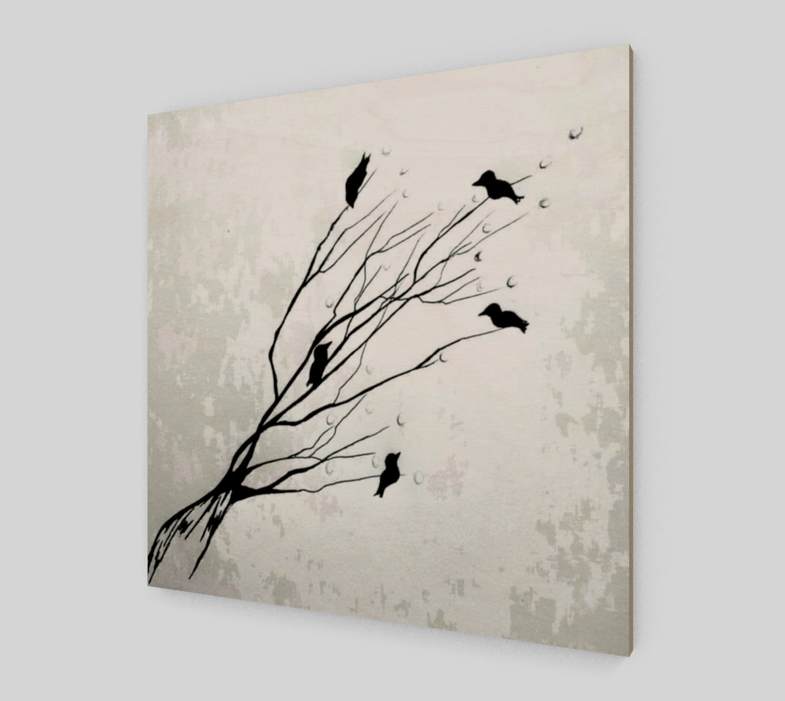 Birds on a branch preview #2