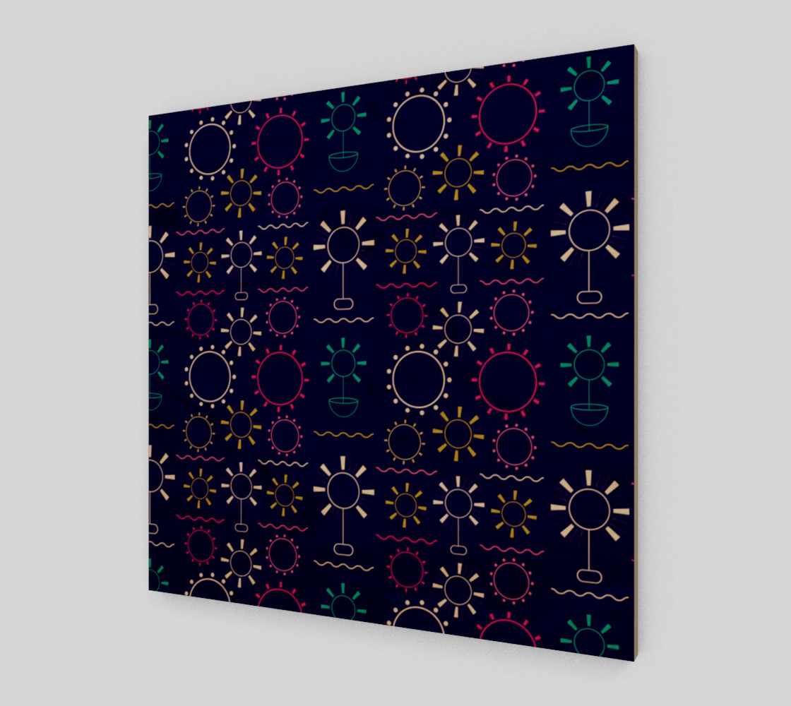 Aperçu de colorful geometric artsy floral #1