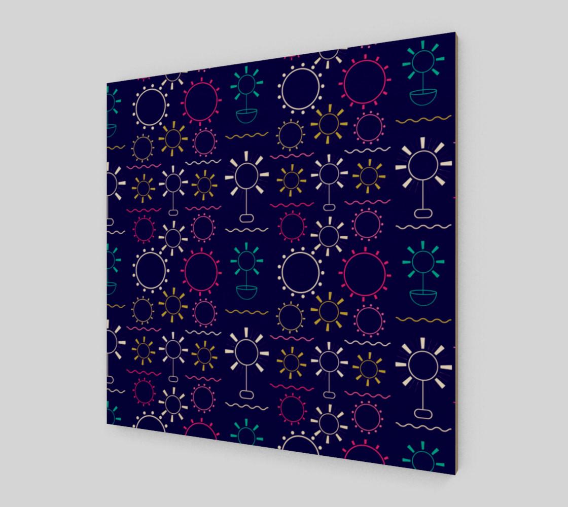 Aperçu de colorful geometric artsy floral #2