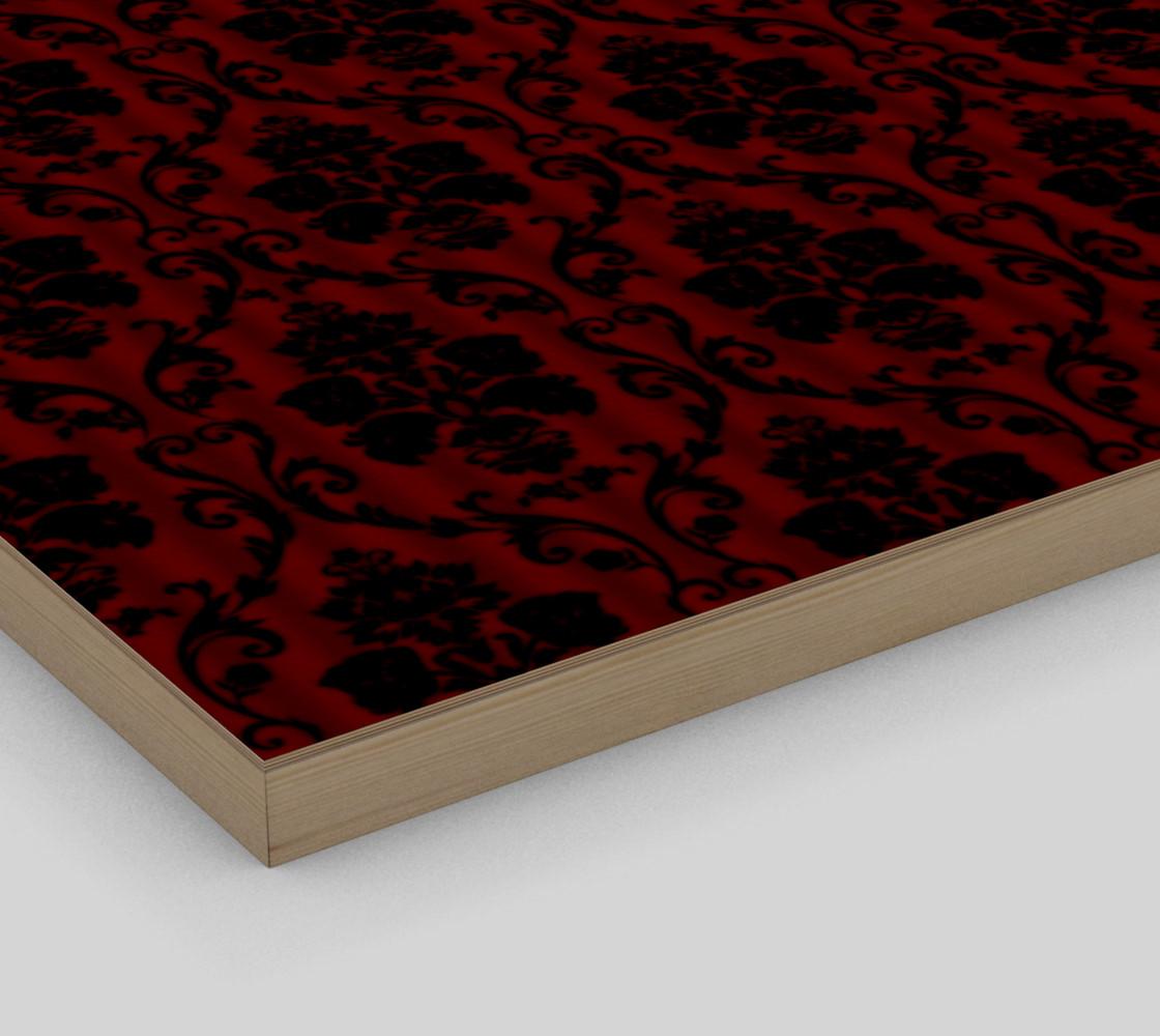 Elegant Black And Red Damask Antique Vintage Victorian Lace preview #3