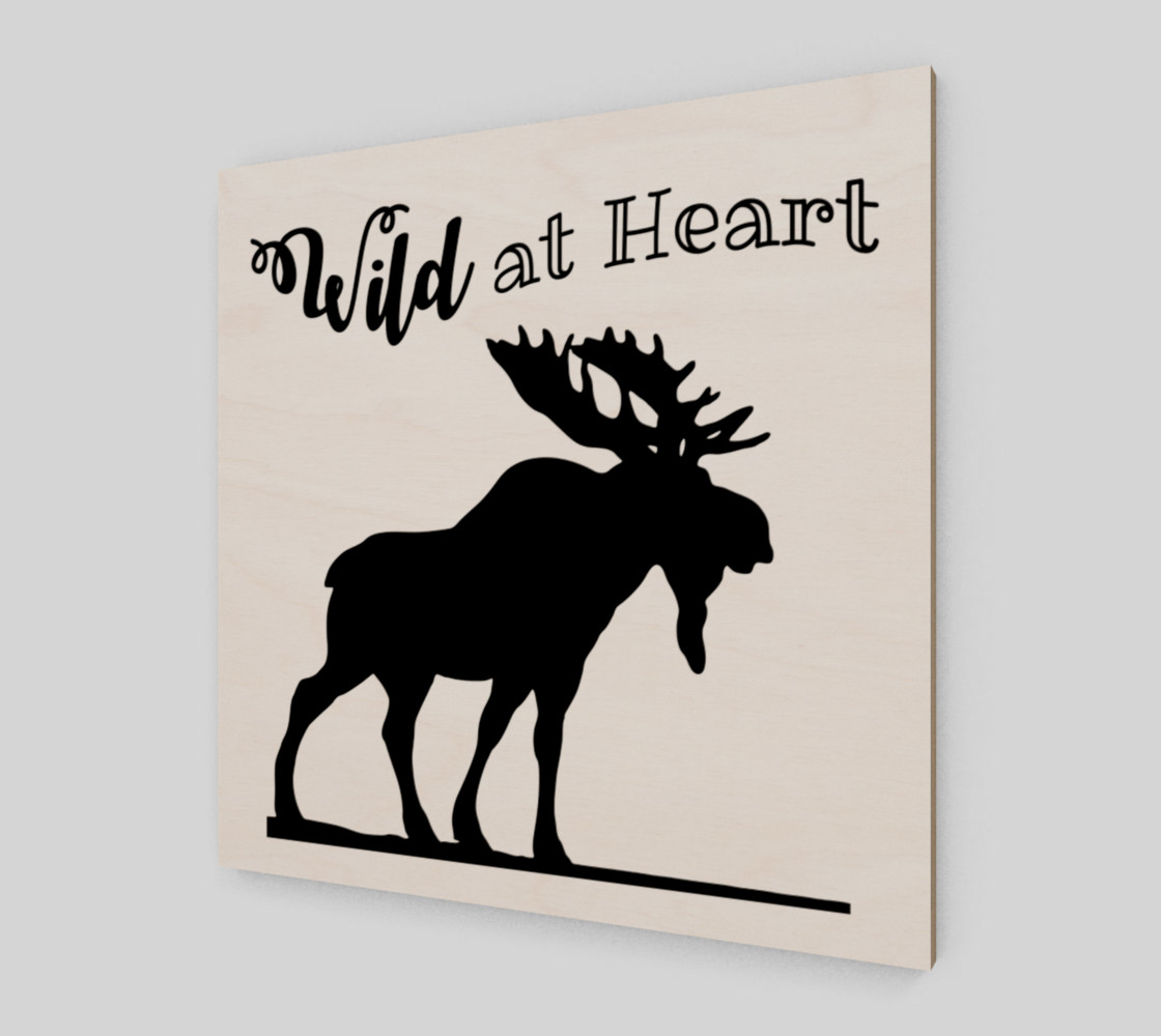 Wild at Heart-Moose Wall Art preview #2