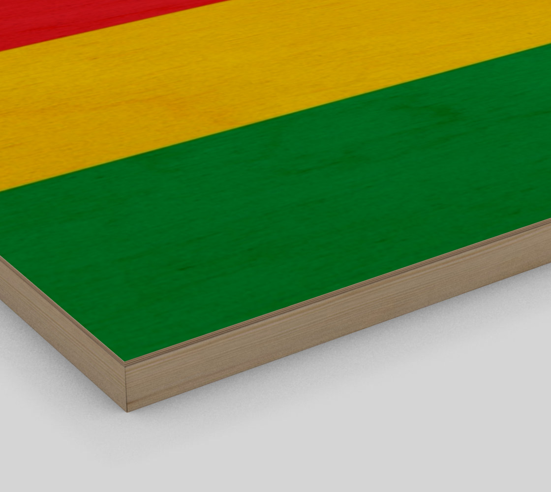 Rasta Colors Green Yellow Red Black Stripes Pattern preview #3