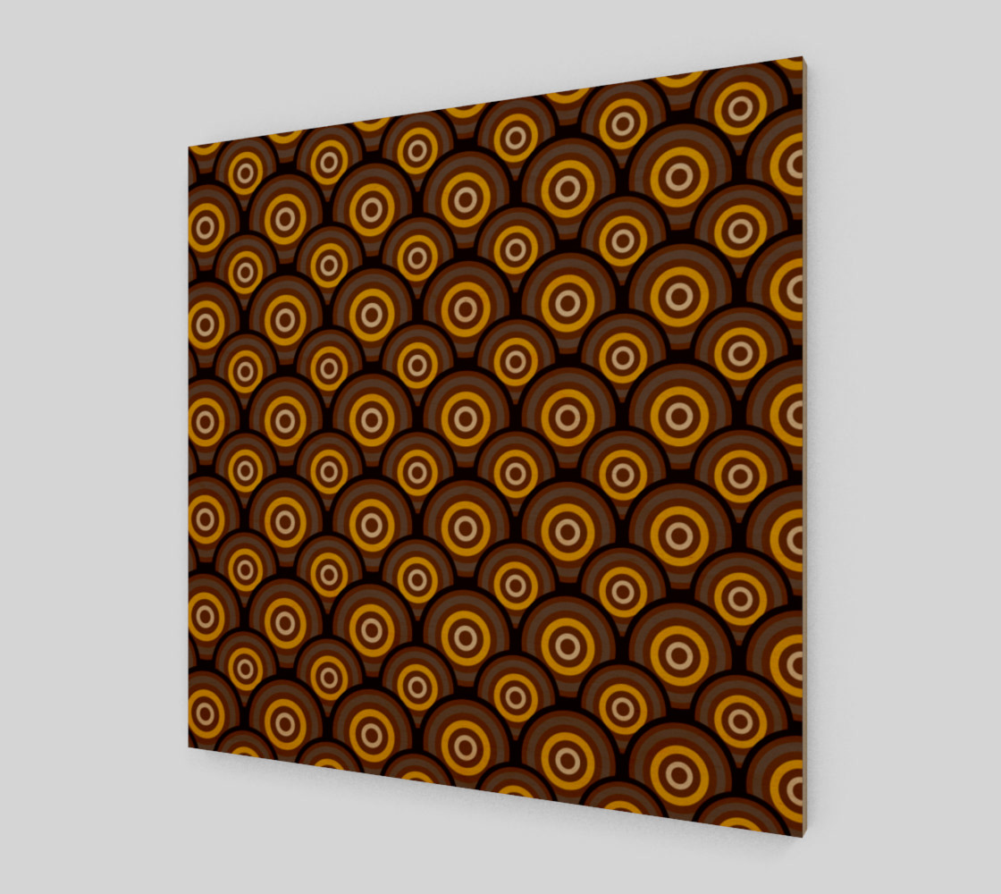 retro circles brown with yellow preview #1