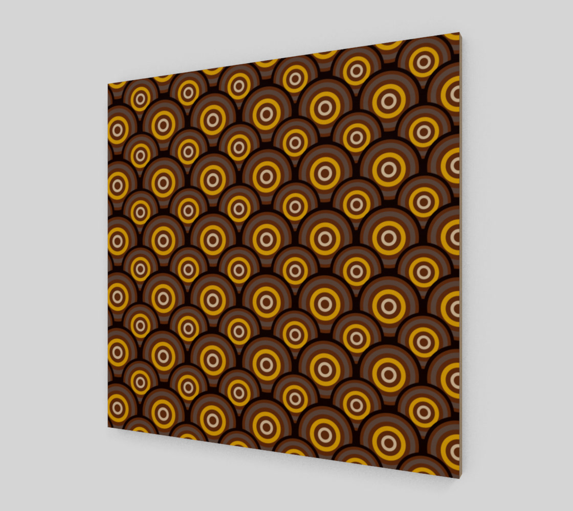 retro circles brown with yellow preview #2