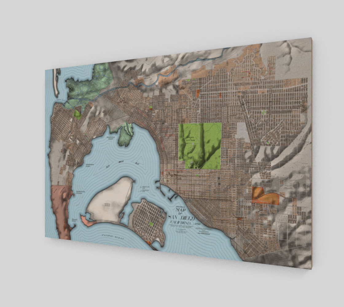 Historical Map of San Diego California preview #2