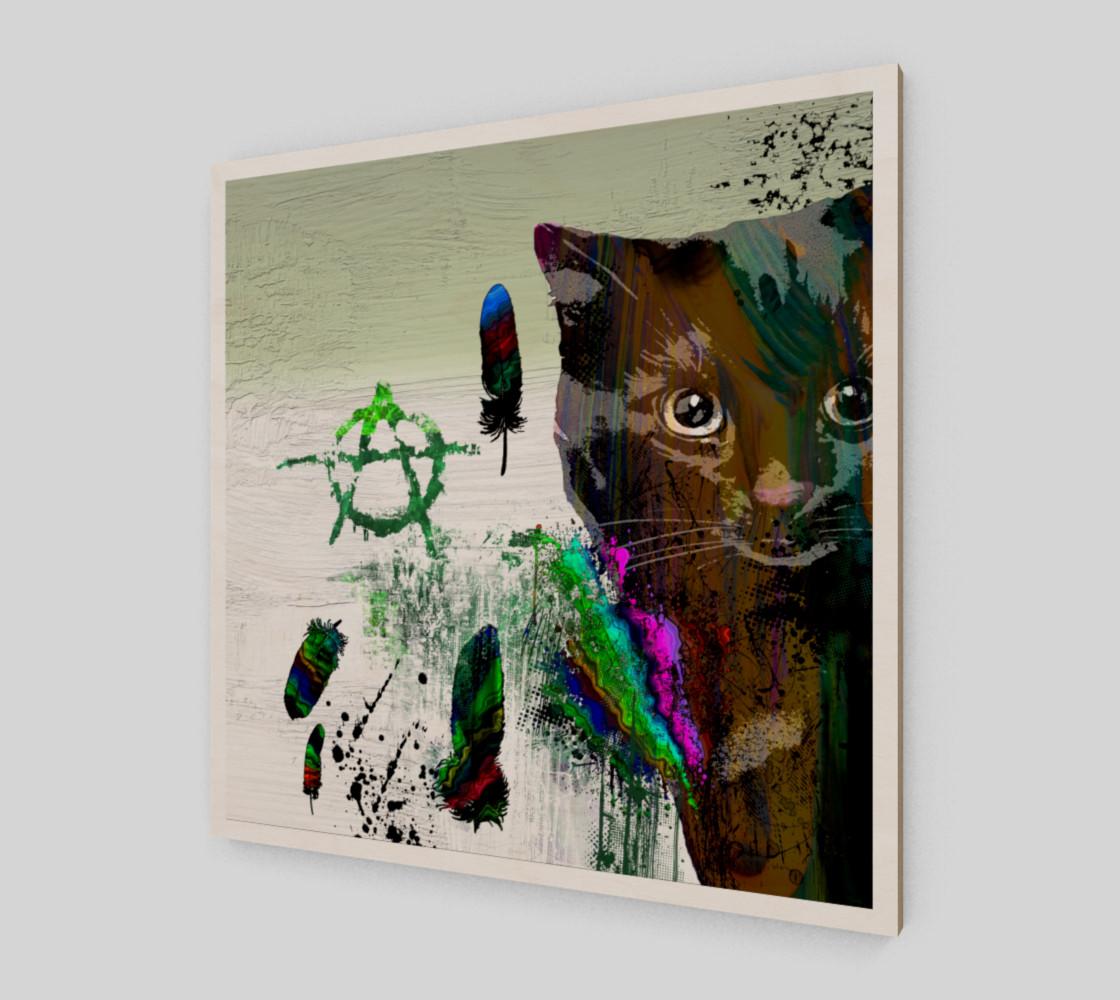Aperçu de Cat №2 Wall Art Print #2