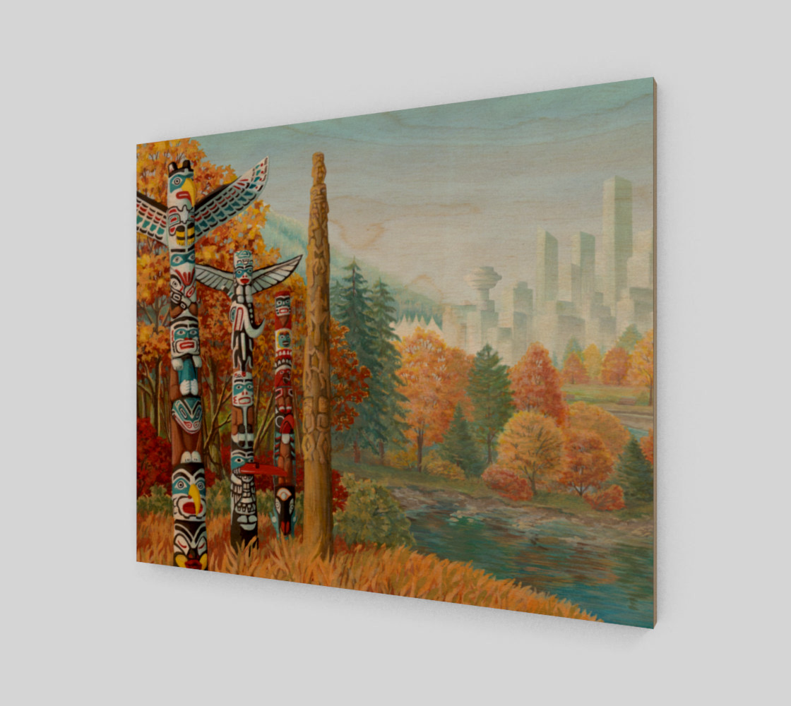 Vancouver Canada Landscape Painting - Two Worlds Collide 3D preview