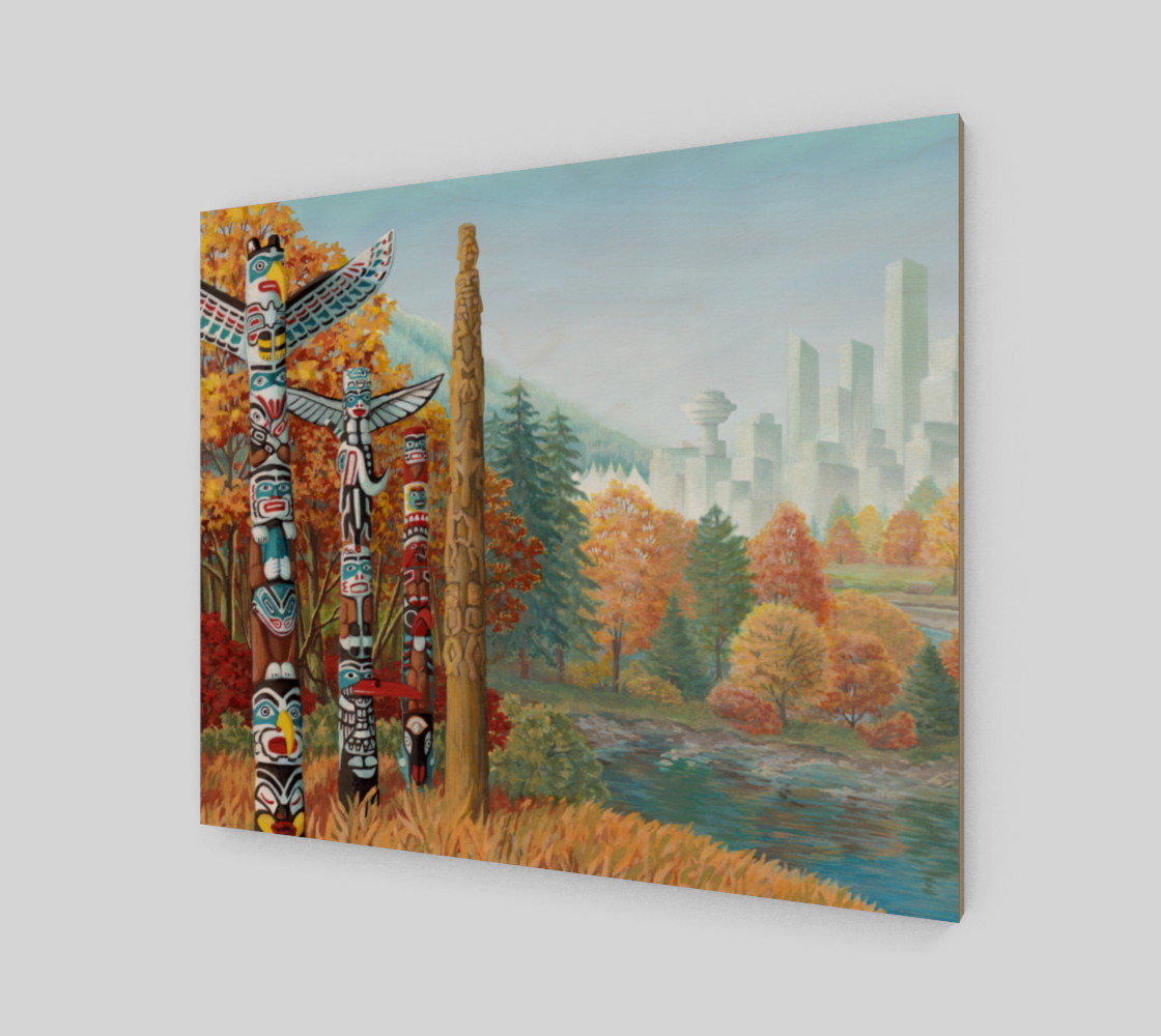 Vancouver Canada Landscape Painting - Two Worlds Collide thumbnail #3