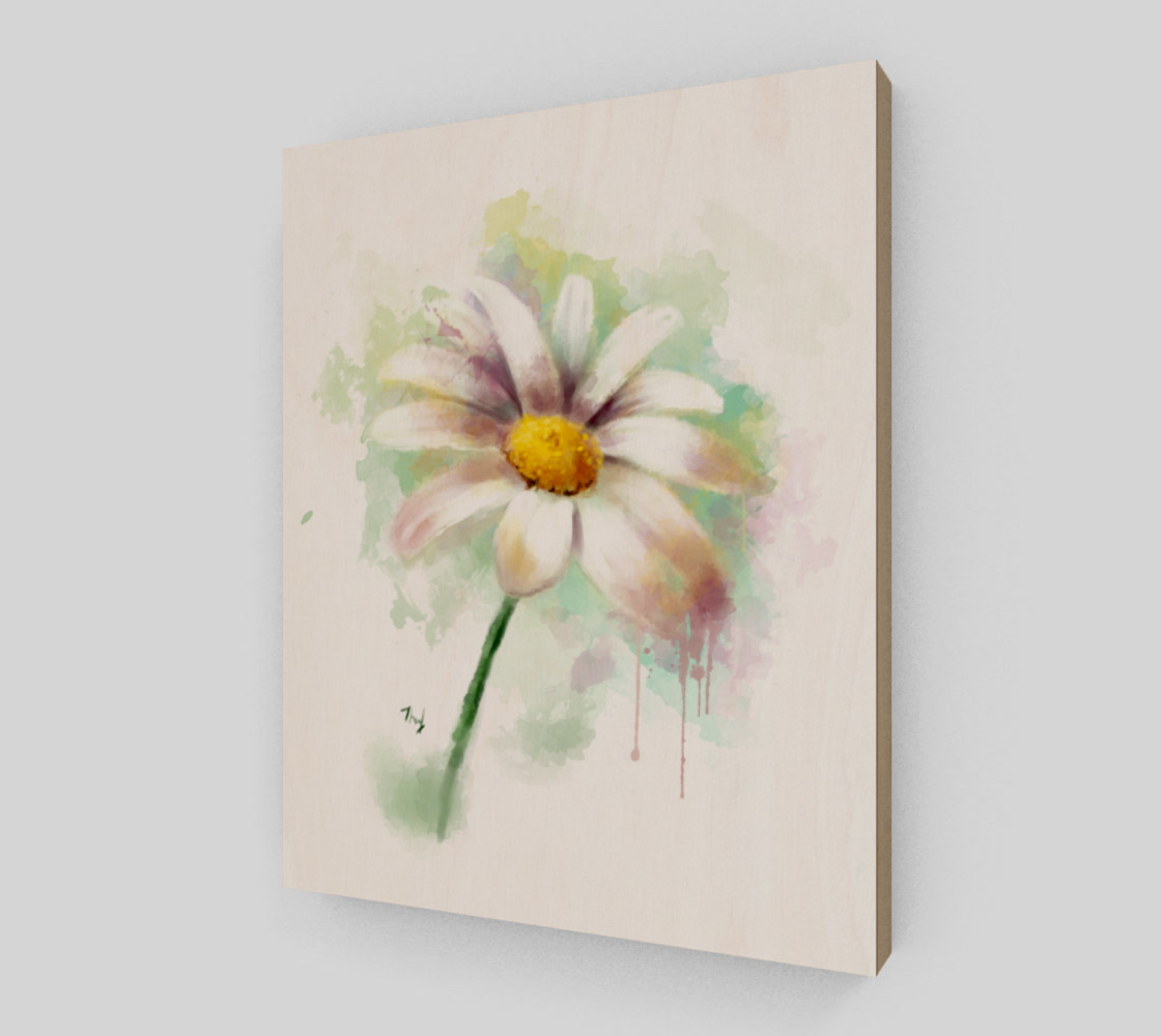 Daisy Watercolor Painting preview #2