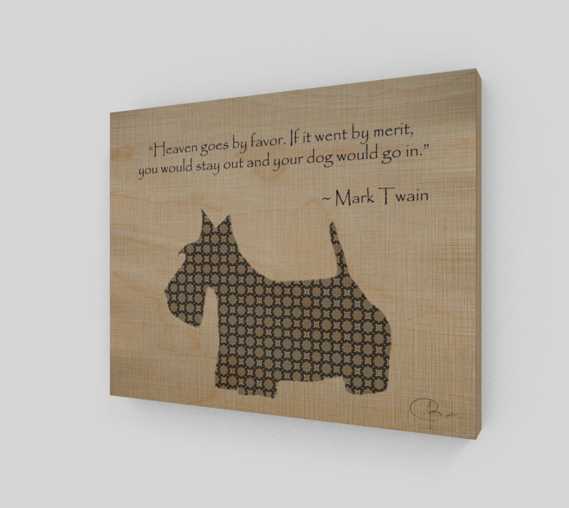 Scotty Dog (Mark Twain Quote) preview #1