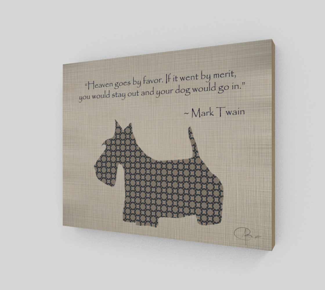 Scotty Dog (Mark Twain Quote) preview #2