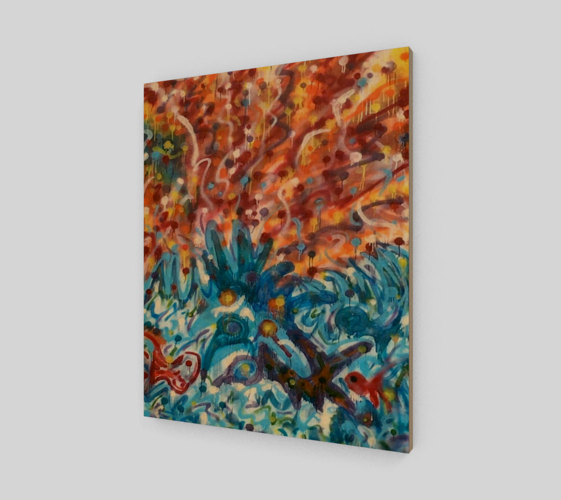 Life Ignition from Spray Painted Mural Canvas preview #1