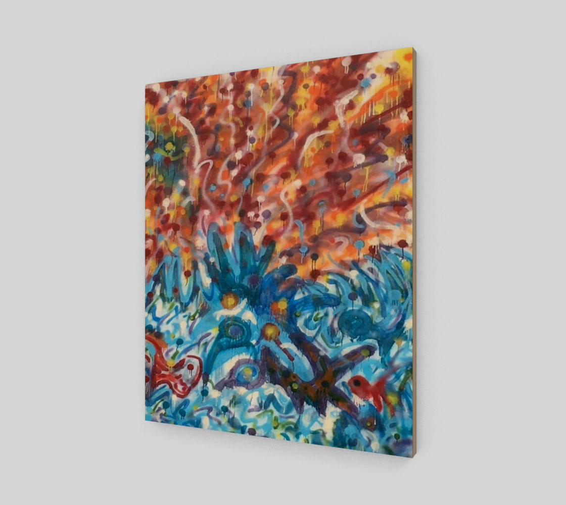 Life Ignition from Spray Painted Mural Canvas preview #2