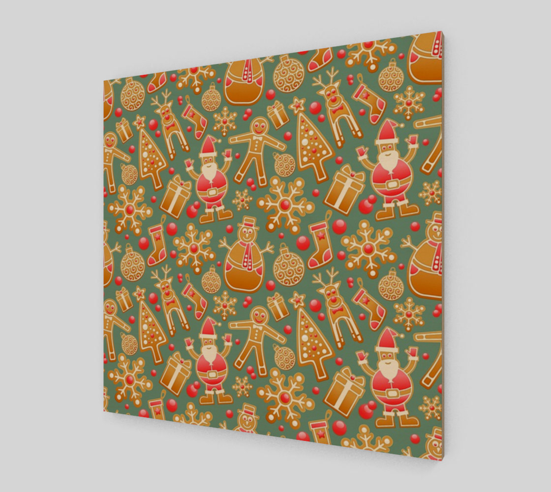 1950 Vintage Gingerbread Christmas Wall Art preview #2