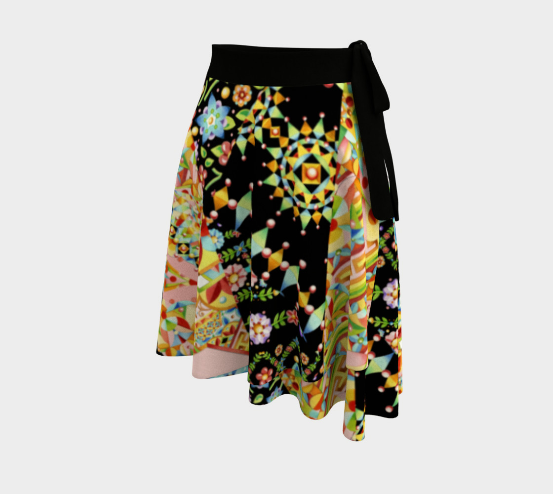 Crazy Patchwork Swirl Circle Skirt preview #2
