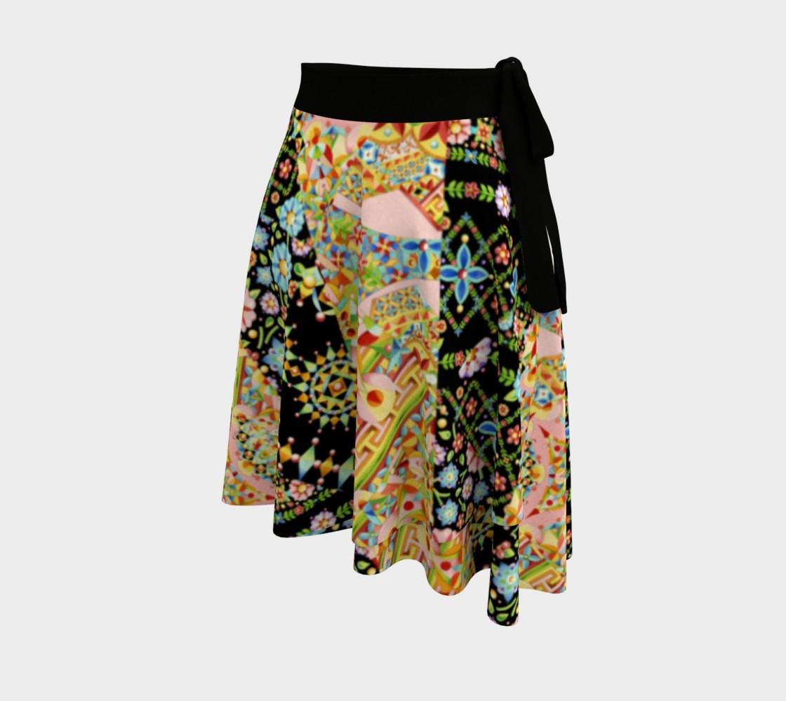 Aperçu de Crazy Patchwork Swirl Wrap Skirt #2