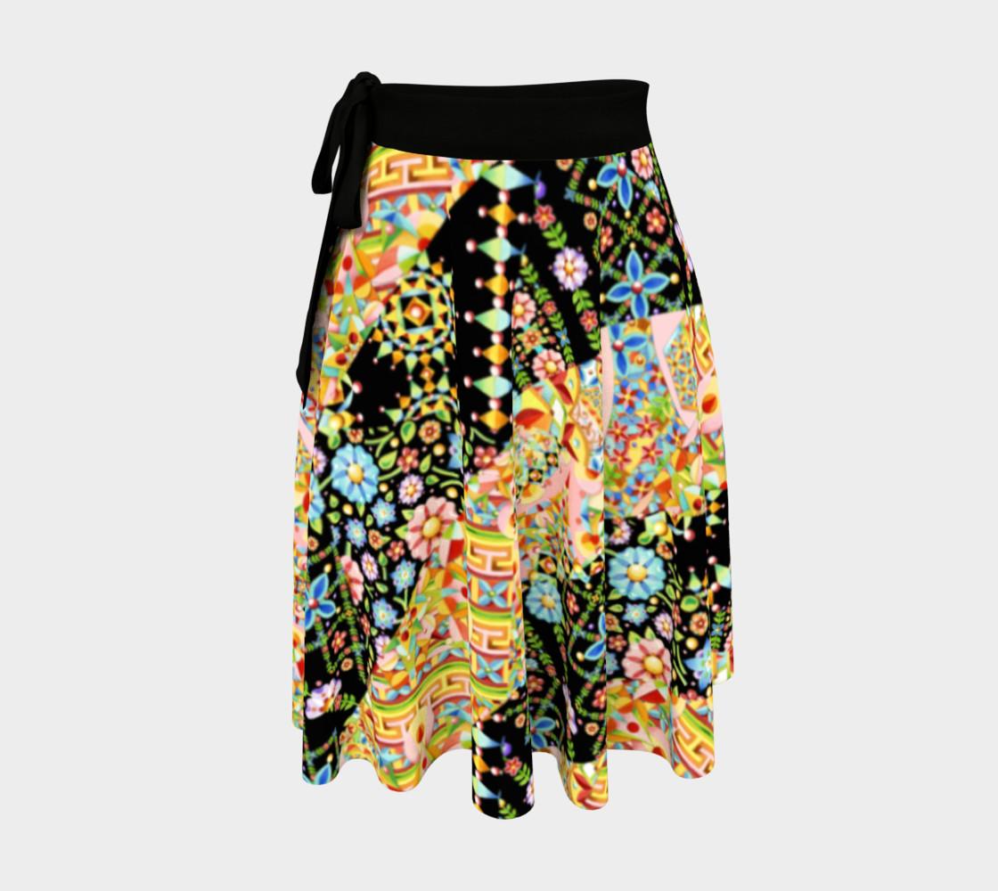 Aperçu de Crazy Patchwork Swirl Wrap Skirt #1