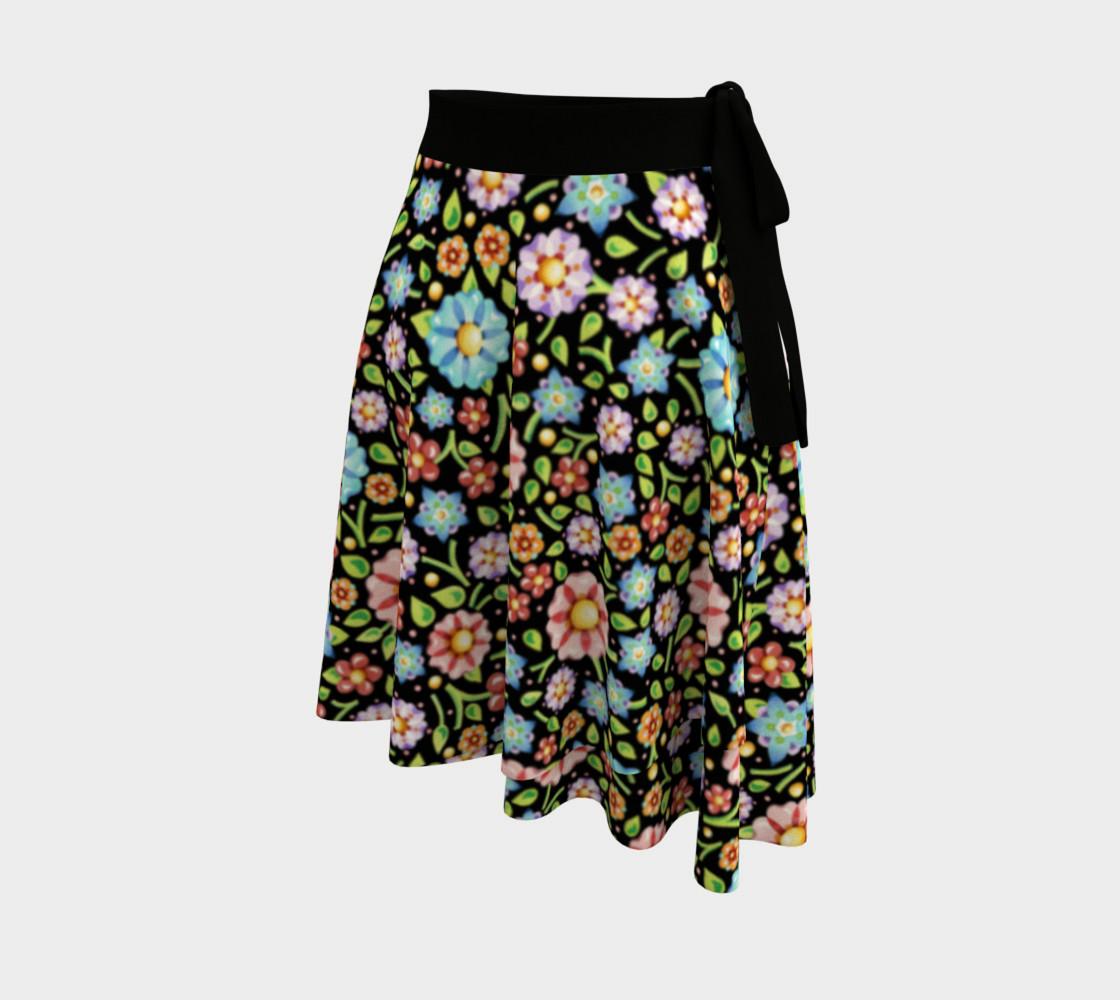 Aperçu de Confetti Flowers Wrap Skirt #2