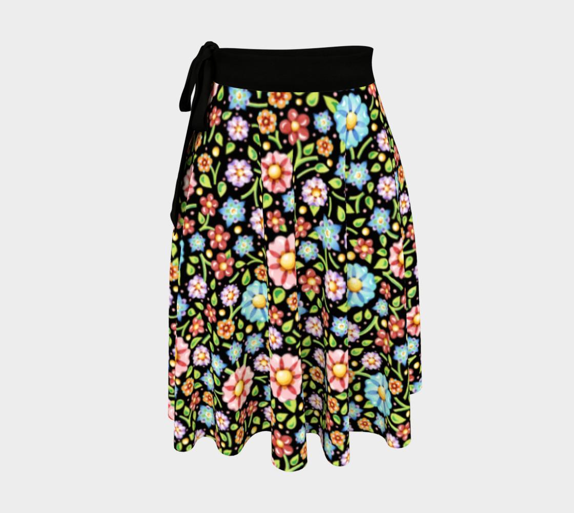 Aperçu de Confetti Flowers Wrap Skirt #1