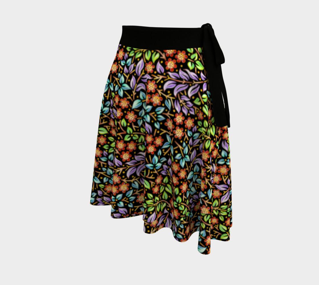 Filigree Floral Ditsy Circle Skirt preview #2